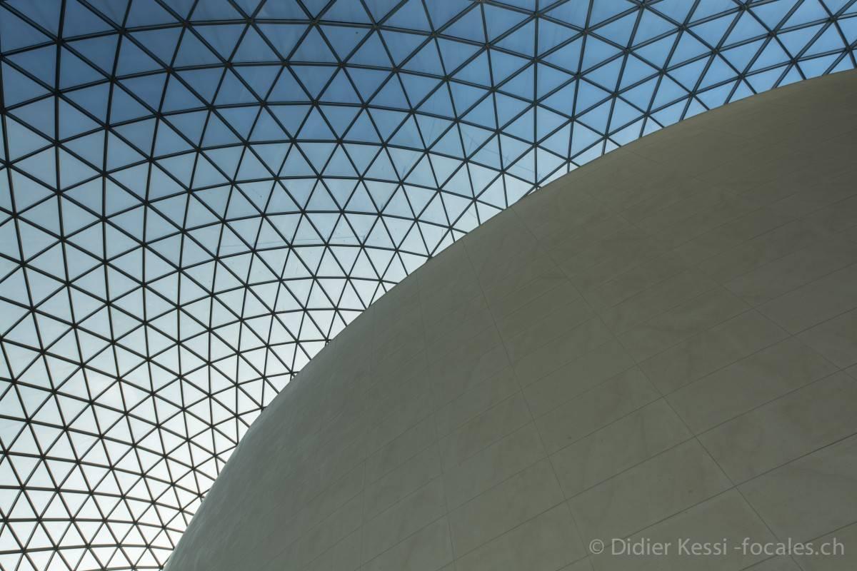 Londres: L'atrium du Bristish Museum.
